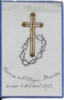 IMAGES RELIGIEUSES 1879 CHEVEUX DE ST MARIE BERNARD   '( Recto Verso ) - Images Religieuses