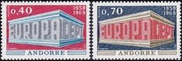 CEPT / Europa 1969 Andorre Français N° 194 Et 195 ** - Europa-CEPT