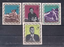 YEMEN 1966 - HOMENAJE A JOHN F. KENNEDY - YVERT Nº 229/231** + AEREO Nº 65** - Jemen