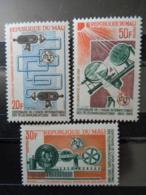 MALI 1965 Y&T N° 76 à 78 ** - CENTEN. DE L'UNION INTERN. DES TELECOMMUNICATIONS - Mali (1959-...)