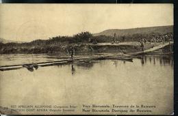 Carte Illustrée  N° 12. Vue: 35 : Vers Biaramuno. Traversée De La Ruwuwu  (obl. Kigoma  10/05/1918) - Ganzsachen