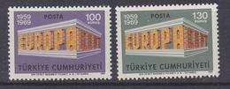 Europa Cept 1969 Turkey 2v ** Mnh (47833B) - Europa-CEPT