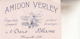 BUVARD  PUB  12,5 Sur 8 CM   AMIDON VERLEY - Blotters