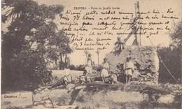 AFRIQUE. LYBIE. TRIPOLI. PUITS DU JARDIN ARABE. TEXTE MILITARIA. ANNEE 1911 - Libye