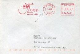 54909 Germany Red Meter Freistempel Ema, 2000 Karben, European Table Tennis Champ. Tischtennis Tennis De Table - Tennis Tavolo