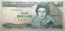 Caraïbes De L'Est - 5 Dollars - 1988 - PICK 22d - NEUF - Ostkaribik