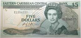 Caraïbes De L'Est - 5 Dollars - 1988 - PICK 22d - NEUF - Caraïbes Orientales