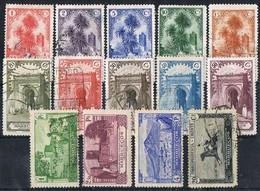 Serie Completa MARRUECOIS Español 1928. Edifil Num 105-118 */º - Spanisch-Marokko