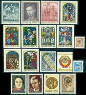 1972 Distaff,Ship,Porcelain,Wine,Rose,Fencing,Dog,Hungary,MNH Yearset=93 St+7s/s - Hongarije