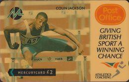 Paytelco Cards - 01 - Sport: Colin Jackson - 2PPOA - Ver. Königreich