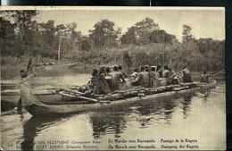 Carte Illustrée  N° 12. Vue: 30. En Marche Vers Biaramundo. Passage De La Kagera  (obl. Kigoma  23/12/1920) - Ganzsachen