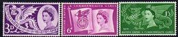 Great Britain GB QEII 1958 Commonwealth Games Set Of 3, Hinged Mint, SG 567/9 - 1952-.... (Elisabeth II.)