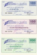 SERIE 3 MINIASSEGNI FDS BANCA INDUSTRIALE GALLARETESE ASS COMM VARESE (YM483 - [10] Scheck Und Mini-Scheck