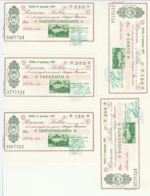 SERIE 5 MINIASSEGNI FDS BANCA SELLA MOBILIFICIO LANZA (YM496 - [10] Scheck Und Mini-Scheck
