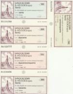 SERIE 5 MINIASSEGNI FDS BANCA CALDEROLI MOGGIOLI  A ME STESSO (YM481 - [10] Scheck Und Mini-Scheck