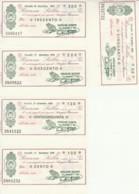 SERIE 5 MINIASSEGNI FDS BANCA SELLA VERCELLINO GIUSEPPE (YM501 - [10] Scheck Und Mini-Scheck