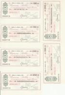 SERIE 6 MINIASSEGNI FDS BANCA SELLA CERAMICHE D'ARTE-FILATELIA GAVAZZA (YM498 - [10] Scheck Und Mini-Scheck