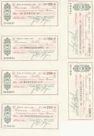 SERIE 6 MINIASSEGNI FDS BANCA SELLA EDICOLA GRITTI (YM484 - [10] Scheck Und Mini-Scheck