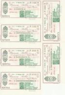 SERIE 6 MINIASSEGNI FDS BANCA SELLA FILATELIA NUMISMATICA BIELLESE (YM503 - [10] Scheck Und Mini-Scheck