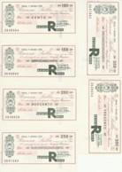 SERIE 6 MINIASSEGNI FDS BANCA SELLA RATAFIA RAPA (YM485 - [10] Scheck Und Mini-Scheck