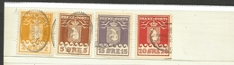 Groenlandia Pacchi Postali Usati Valore Catalogo 370 Euro Perfetti 1916 4 Valori Diversi - Colis Postaux