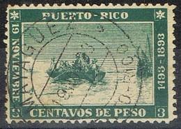 Sello Barquito Colon, PUERTO RICO, Colonia Española 1893. Reproduccion, Edifil Num 101 º - Puerto Rico