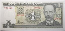 Cuba - 1 Peso - 2007 - PICK 128b - NEUF - Cuba