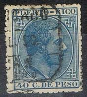 Sello 40 Cts PUERTO RICO 1882, Edifil  Num 69 º - Puerto Rico