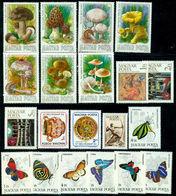 1984 Mushroom,Butterfly,Opera House,Bird,Owl,Goya,Hungary,MNH Yearset=59st+5s/s - Hongarije