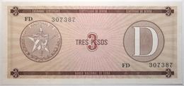 Cuba - 3 Pesos - 1985 - PICK FX33 - NEUF - Cuba