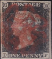 Great Britain      .     Yvert  1  (2 Scans)      .         O      .       Cancelled .   /   .    Oblitéré - Used Stamps