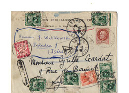 B18  1944 Lettre Taxée Divers Cachets  Pas Courante - 1859-1955 Briefe & Dokumente