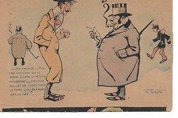 L100G032 - Judaica - Caricature - Tout Au Radium  - PH. Norwins - Le Gros Banquier - Carte Précurseur  N°4 - Humour