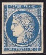 FRANCE - 20 C. Bleu Neuf FAUX - 1849-1850 Ceres