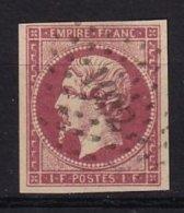FRANCE - 1 F. Carmin Oblitéré FAUX - 1853-1860 Napoleone III