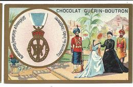 CHROMO ANCIEN  - Médaille Ordre De La Couronne Des Indes (Angleterre) - Pub Chocolat Guérin-Boutron - Autres