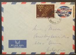 Rwanda - Cover To Belgium 1974 Olympic Games Wrestling Fauna Fish - Ruanda
