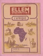 RARISSIME : PROTEGE CAHIER CHAUSSURES ELLEM - DUNKERQUE - ILLUSTRATION : L'AFRIQUE - - Zapatos