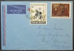 Rwanda - Cover To Belgium 1974 Olympic Games Wrestling Cycling - Ruanda