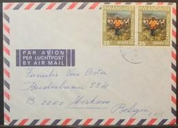 Rwanda - Cover To Belgium 1976 Production Year - Ruanda