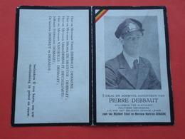 Oorlogslachtoffer Pierre Debbaut Geboren Te St. Kruis 1923 En Gesneuveld Te Oostkerke  1944  (2scans) - Godsdienst & Esoterisme