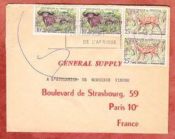 Brief, Tiere Nationalpark, Dakar Nach Paris 1962 (94386) - Senegal (1960-...)