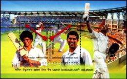 CRICKET- SACHIN TENDULKAR-200th TEST MATCH-ERROR-MS-DRAMATIC PERFORATION SHIFT-RARE-MNH-INDIA-2013-MSE-65 - Cricket