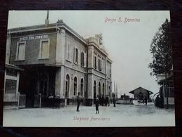 Cartolina Ricordo 53ª Giornata Del Ferroviere Con Annullo - Stazione Ferroviaria Borgo San Donnino - Fidenza (PR) - Parma