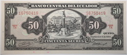 Équateur - 50 Sucres - 1984 - PICK 122a.6 - NEUF - Ecuador
