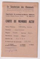 CARTE Le SANATORIUM Des CHEMINOTS  S.N.C.F.Aiguilleurs Section De ROUEN . Habitant à SAINT LAURENT DE BREVEDENT - Historical Documents