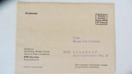 """DDR: Ds-Brief """"Gebühr Bezahlt Beim HPA 87 Löbau"""" Der Evang. Brüder-Unität Herrnhut   Druckv. III-19-17 Jk G 10-72 20 683 - [6] Oost-Duitsland"""