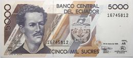 Équateur - 5000 Sucres - 1999 - PICK 128c.2 - NEUF - Ecuador