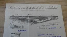 Facture Société Francaise De Materiel Agricole Et Industriel A Vierzon En 1932 .................. F-13 - Autres