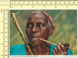 UGANDA - OLD WOMAN W Pipe, RUWENZORI REGION JOHN HINDE POSTCARD  RPPC PC PPC - Uganda